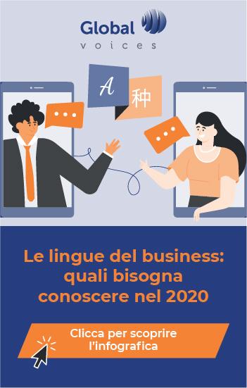L'infografica le lingue del business: quali bisogna conoscere nel 2020